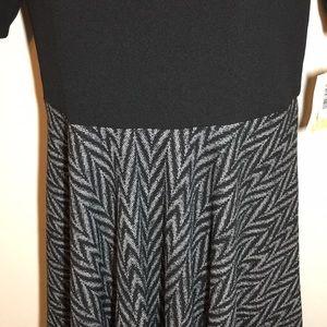LuLaRoe Dresses - Lularoe Nicole Black/grey 3XL NWT